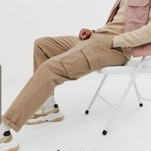 ASOS DESIGN | Relaxed Cargo Pants/Stone/W30L30